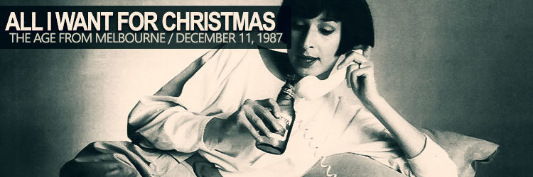 Pamela Rabe Interview 1987 All I Want For Christmas
