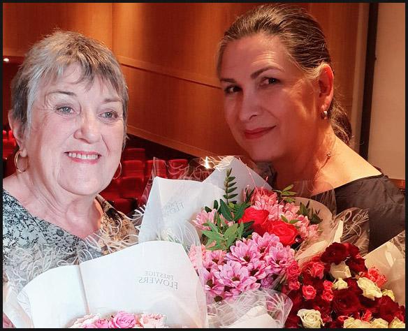 Pamela Rabe & Maggie Kirkpatrick in Birmingham July 2018