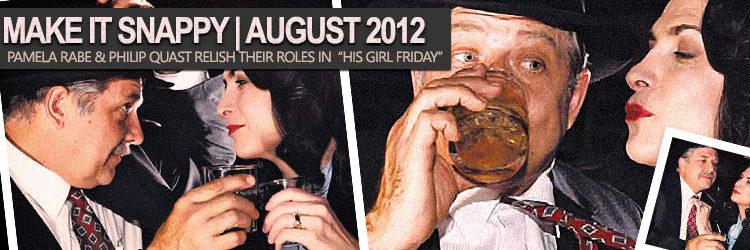 "Pamela Rabe & Philip Quast in ""His Girl Friday"""