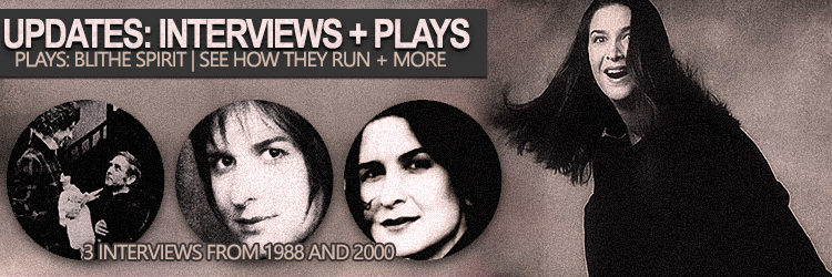 Pamela Rabe Updates | 3 interviews from 1988 and 2000 + Plays