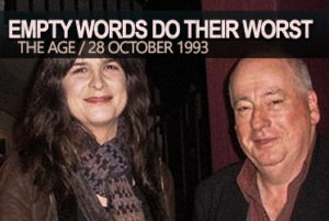 Pamela Rabe & Roger Hodgman: Empty Words Do Their Worst (1993)