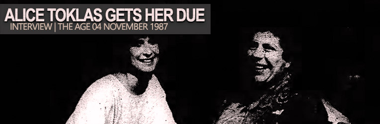 Read more about the article Alice Toklas Get Her Due