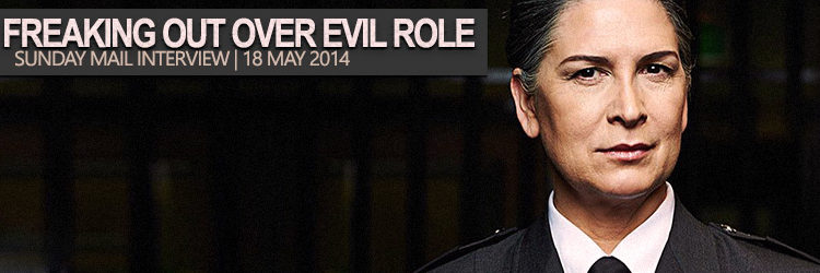 Pamela Rabe freaking out over evil role