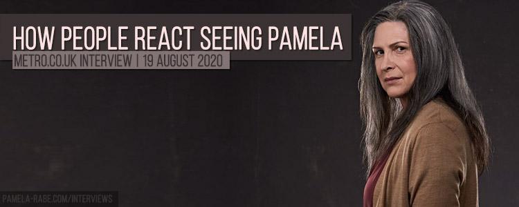 How people react seeing Pamela Rabe
