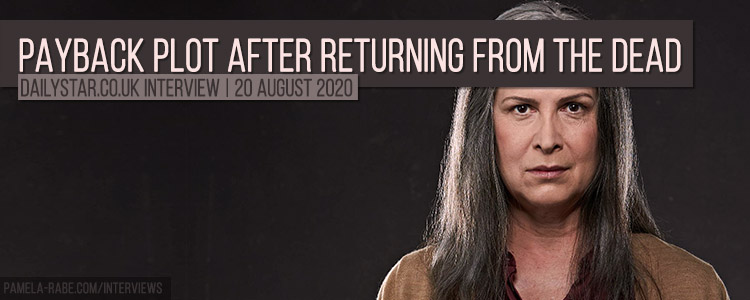 Pamela Rabe teases payback plot after returning from the dead
