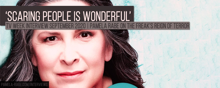 Pamela Rabe 'Scaring people is wonderful' TV Week Interview 2020