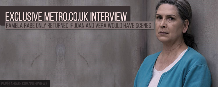 Pamela Rabe | Interview for metro.co.uk about the final Wentworth season